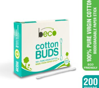 Beco Cotton Buds with Paper Stick-Pack of 4